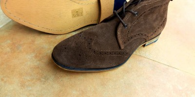 Office suede ankle lace shoe (Brown)..